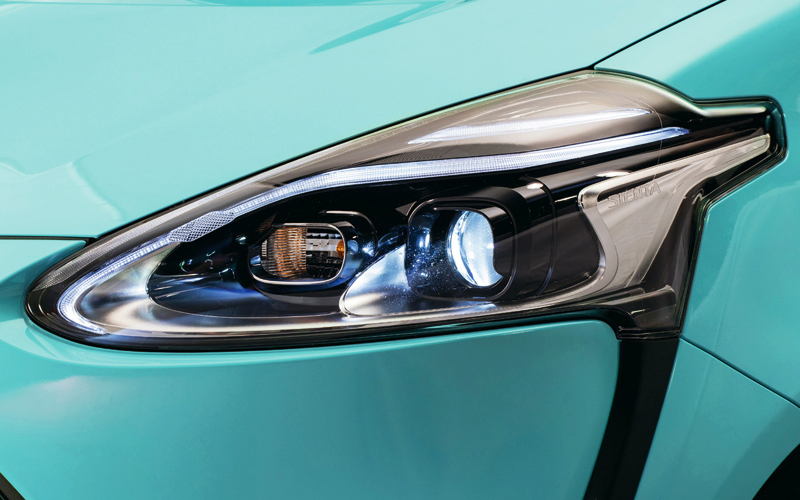 Iconic V-shaped LED headlamps